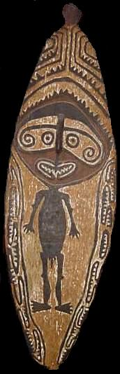 alex philips oceanic tribal art -Papuan Gulf gope board